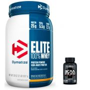KIT: Elite 100% Whey 900g + BCAA 2400 100 Caps.