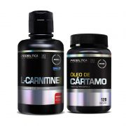 KIT EMAGRECIMENTO: Óleo de Cártamo 120 Caps. + L-Carnitine 2000mg 400ml