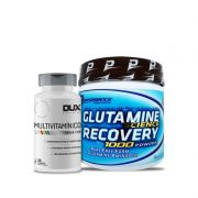 Kit Imunidade: Multivitamínico Dux 90 Cápsulas + Glutamina 300g Performance