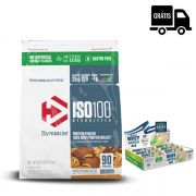 KIT: ISO 100 90 Doses + Whey Grego Bar 12 Uni.