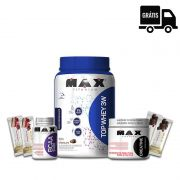 KIT MAX: Top Whey 3W + Creatina 100g + BCAA 2400 60 Caps. + 4x Gold Bar