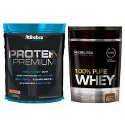KIT: Protein Premium 850g + 100% Pure Whey 825g
