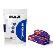 KIT: Top Whey 3W 1,8Kg + Uau! Bar 12 Uni. - Max Titanium