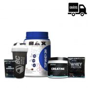 KIT: Top Whey 3W 900g + Creatina 300g + Coqueteleira + 2 Brindes