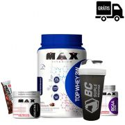 KIT: Top Whey 3W + Creatina 150g + BCAA 2400 100 Caps. + Brindes