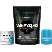 KIT: Whey 4HD 837g + Creature 300g + L-Glutamine 300g