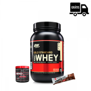 KIT: Whey Gold 909g + Hemorage 30 doses + Protobar