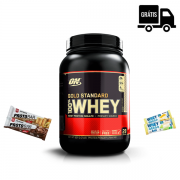 KIT: Whey Gold Standard 909g + 4x Barrinhas