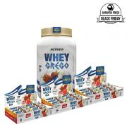 KIT: Whey Grego 900g + 3x Whey Grego Bar 12 Uni.