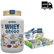 KIT: Whey Grego 900g + Whey Grego Bar 12 Uni.
