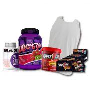 KIT: Whey Nectar Isolate 907g + Camiseta Probiótica + Pasta de Brigadeiro + Caixa de Paçoca + BCAA 2400