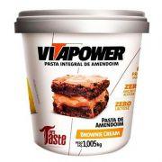 Pasta de Amendoim Brownie Cream 1,005Kg - VITAPOWER