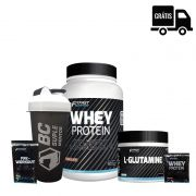 FIT FAST:  Whey Protein 900g + Glutamina 300g + Sachês + Coqueteleira