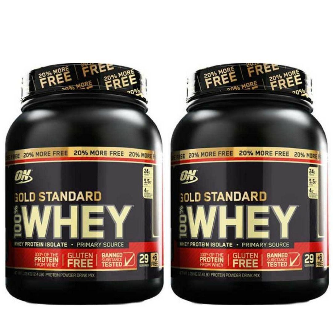 2x 100% Whey Gold Standard 2.4lbs (1,09kg) - Optimum Nutrition