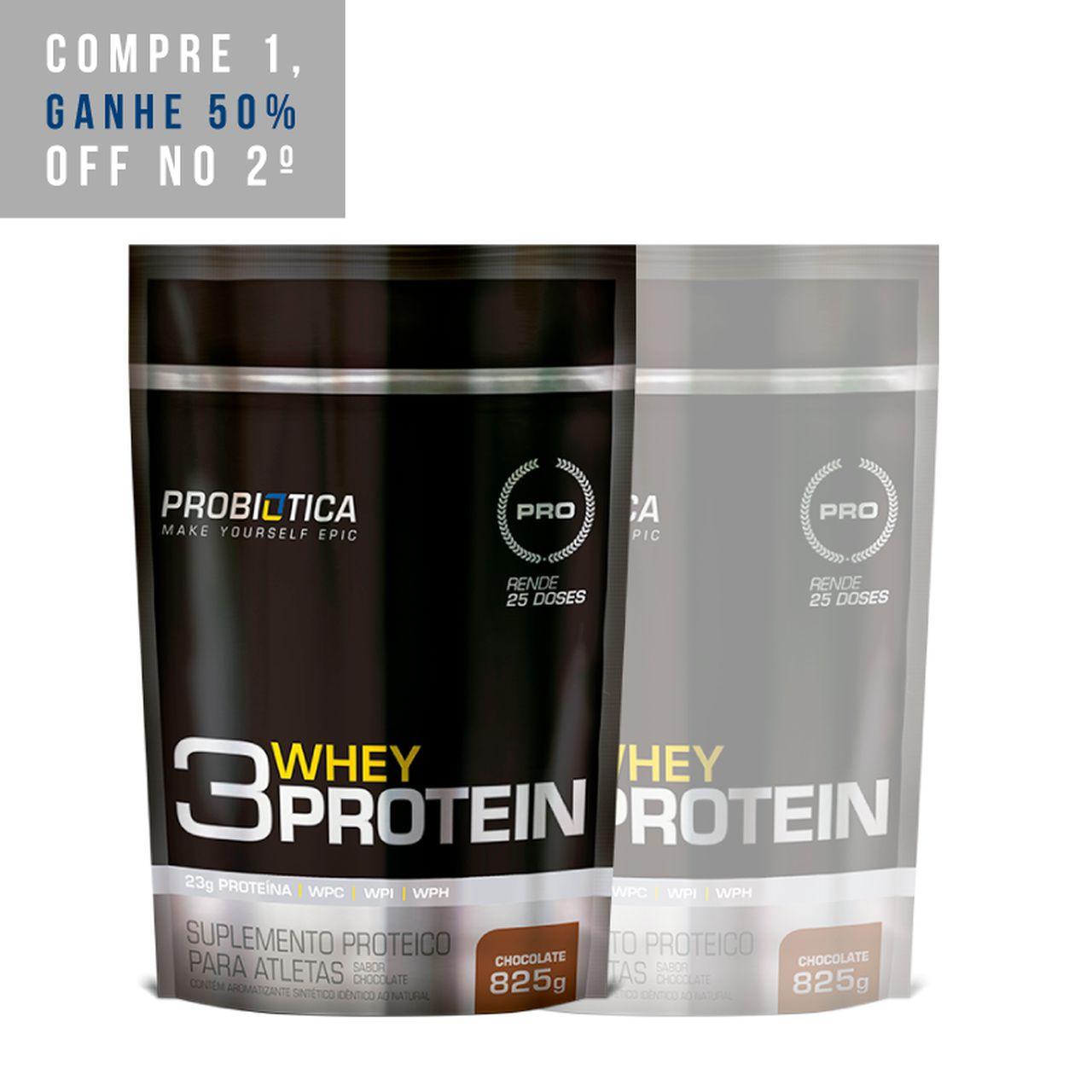2x 3 Whey Protein 825g - Probiotica