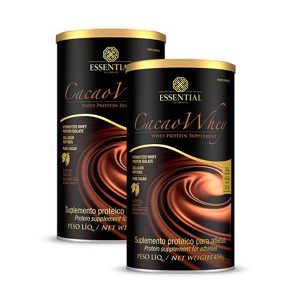 2x Cacao Whey 450g - Essential Nutrition