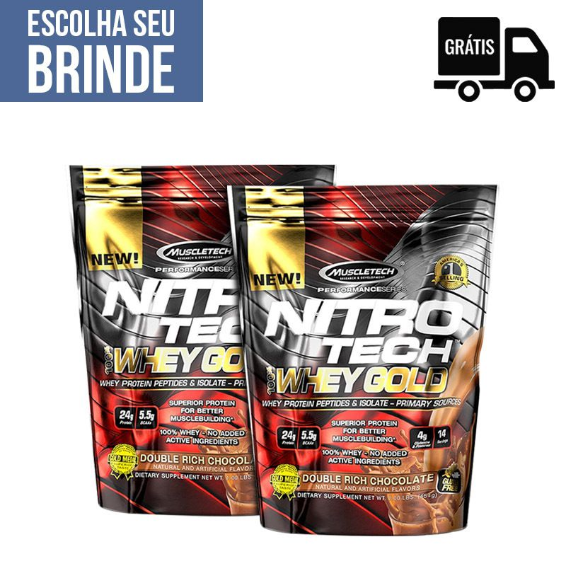 2x NitroTech 100% Whey Gold 450g - MuscleTech