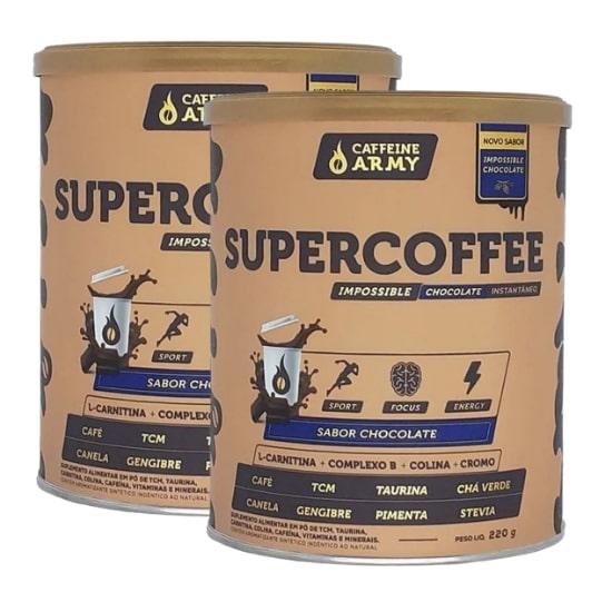 2x Supercoffee Chocolate 220g - Caffeine Army