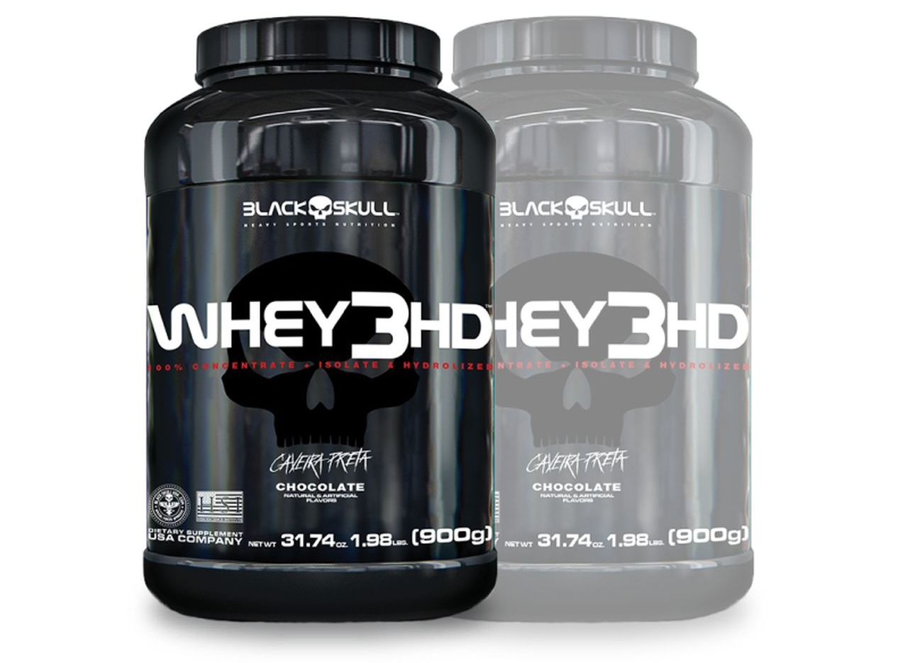 2x Whey 3HD 900g - Black Skull