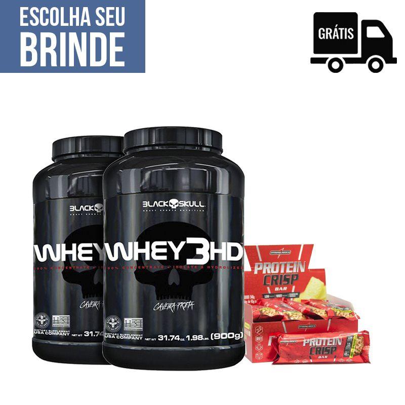 2x Whey 3HD 900g + Protein Crisp 12 Uni.