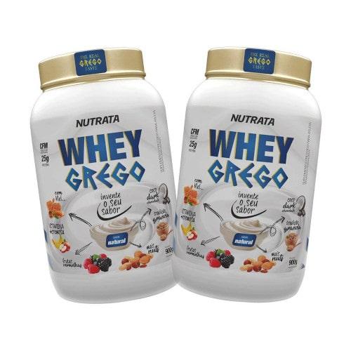 2x  Whey Grego 900g - Nutrata