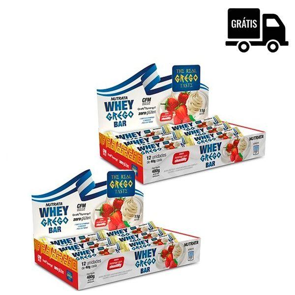 2x Whey Grego Bar 12 Uni. (24 Total)