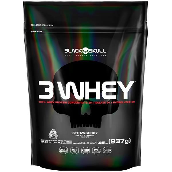 3 Whey 837g - Black Skull