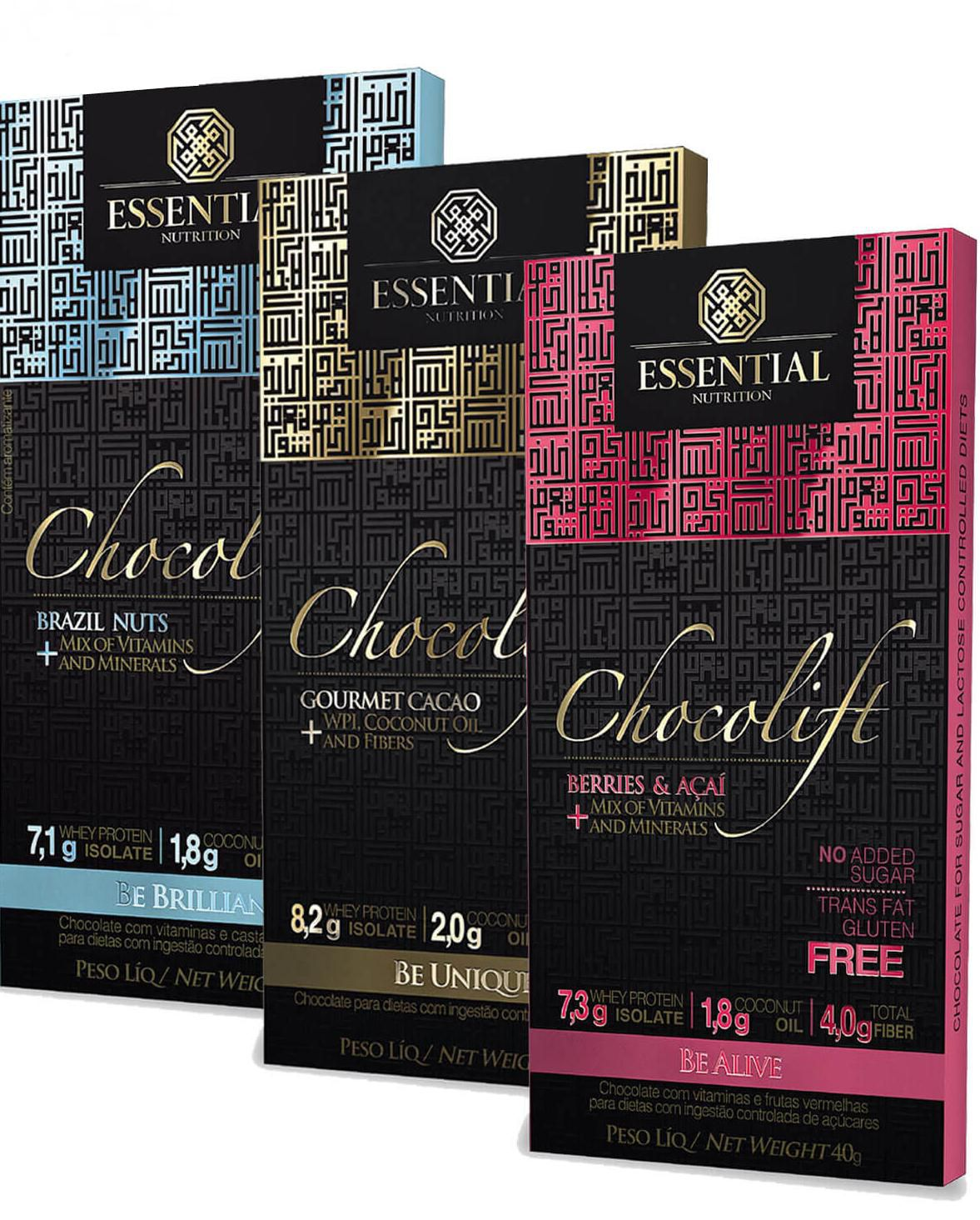 3x Chocolift 40g - Essential Nutrition
