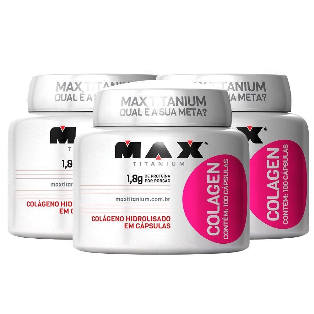 3x Colagen 100 Caps. - Max Titanium