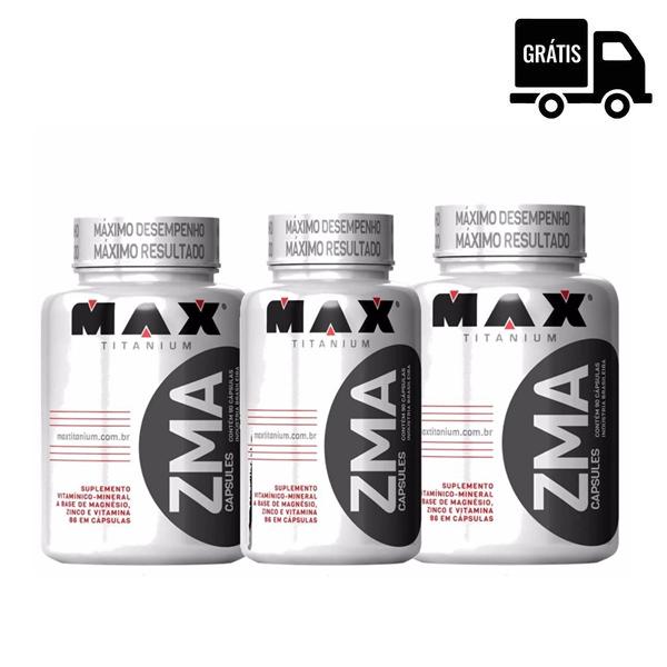 3x ZMA 90 Caps. - Max Titanium