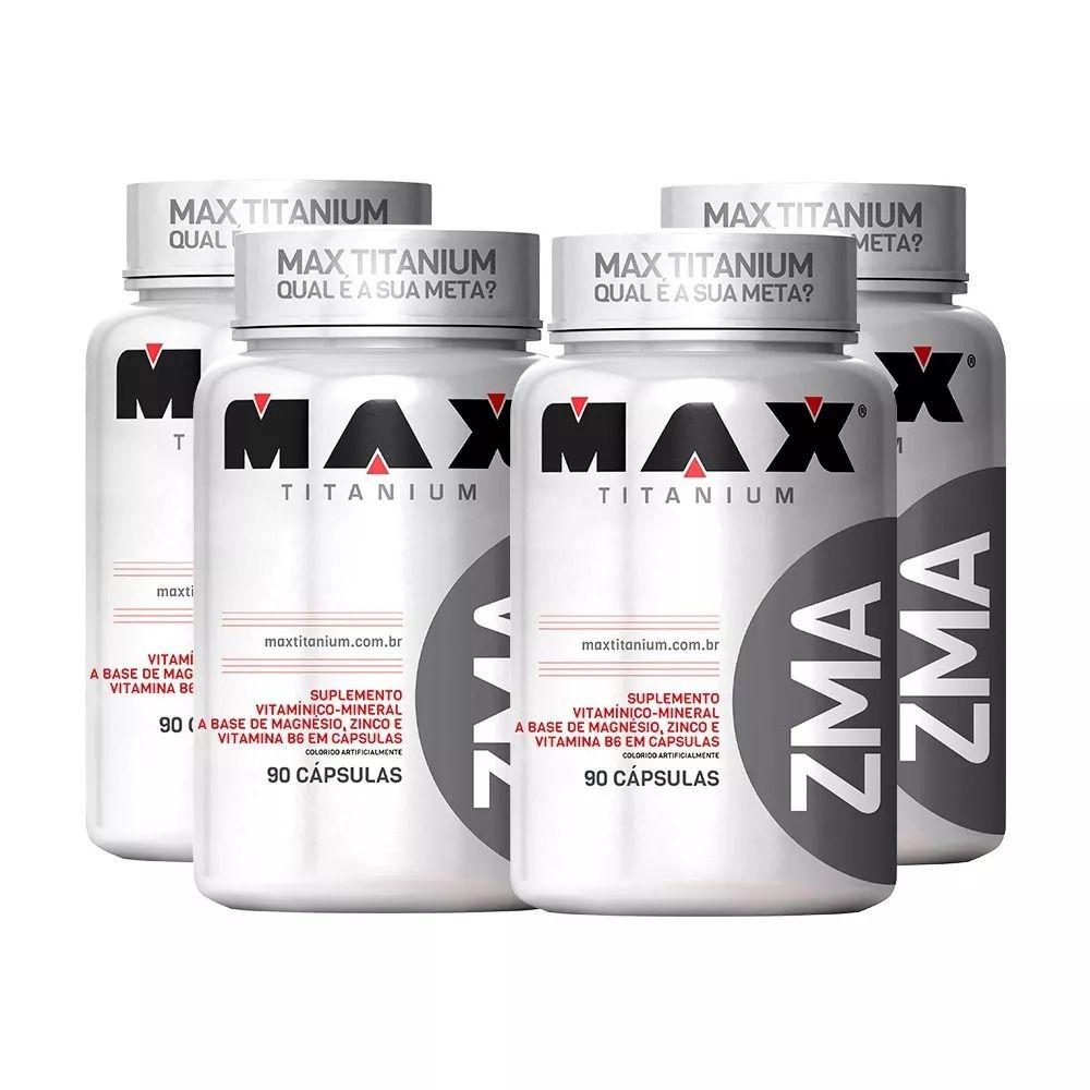 4x ZMA 90 Caps. - Max Titanium