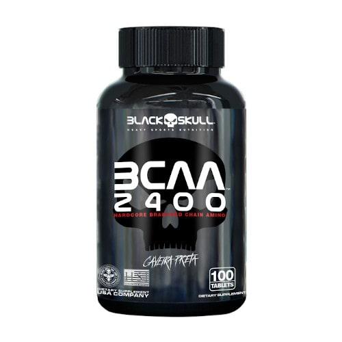 BCAA 2400 100 caps (Caveira preta) - Black Skull