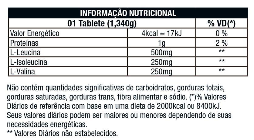 BCAA Premium 1000mg 120 Tabs. - Nutrata