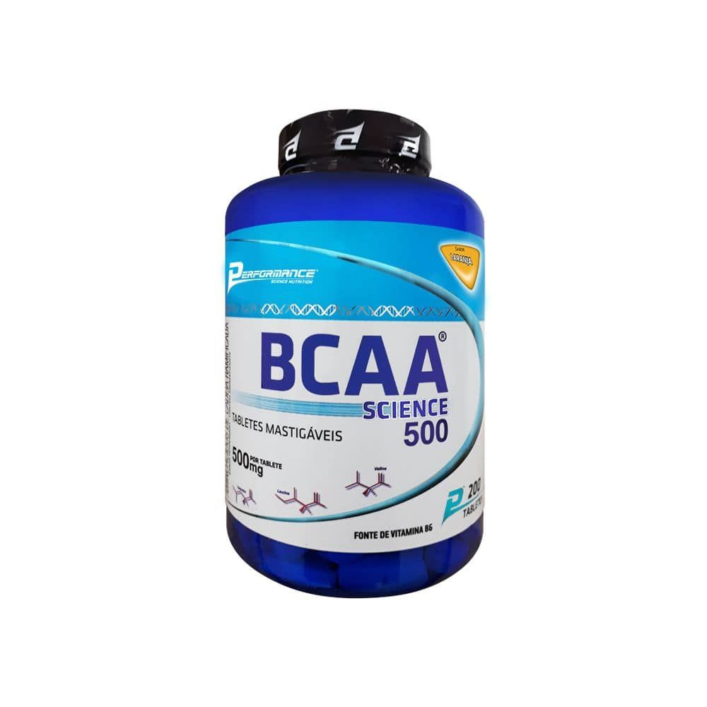 BCAA Mastigável Science 500mg 200 Caps - Performance