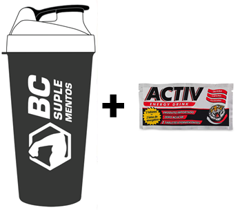 KIT: Coqueteleira BC + Activ Energy Drink 1 Tab.