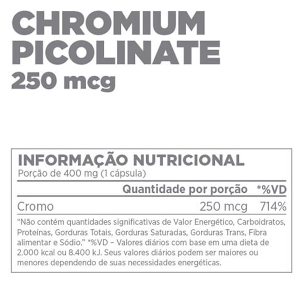 Chromium Picolinate 60 Caps. - Atlhetica Nutrition