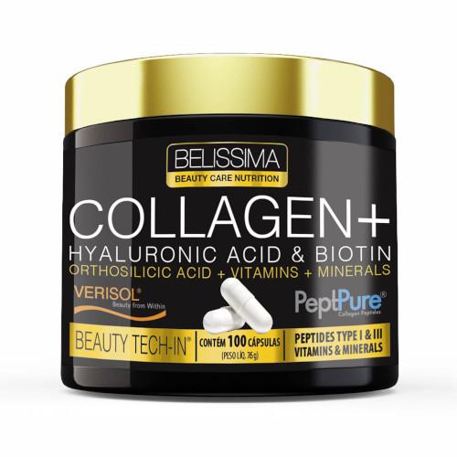 Collagen + (Ácido Hialurônico + Biotina) 100 Caps - Belissima