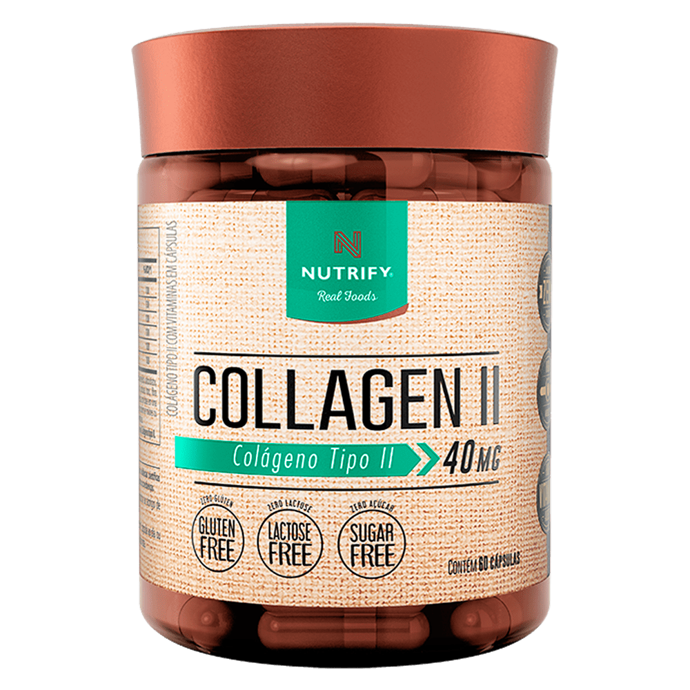 Collagen II 40mg 60 Caps - Nutrify