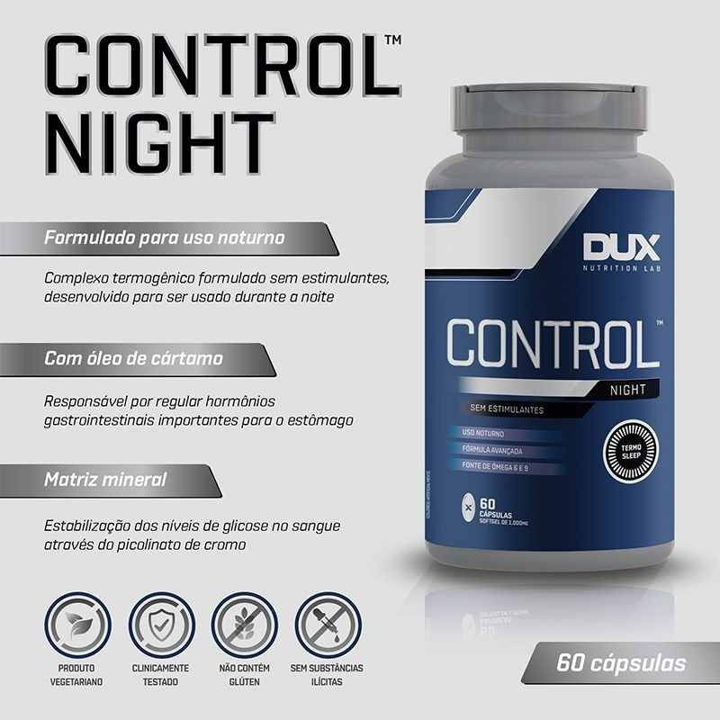 Control Night 60 Caps. - DUX Nutrition