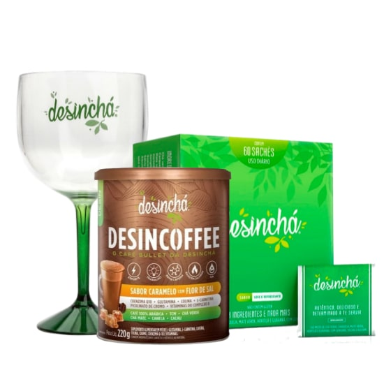 Desincoffee 220g + Desinchá Dia - Desinchá