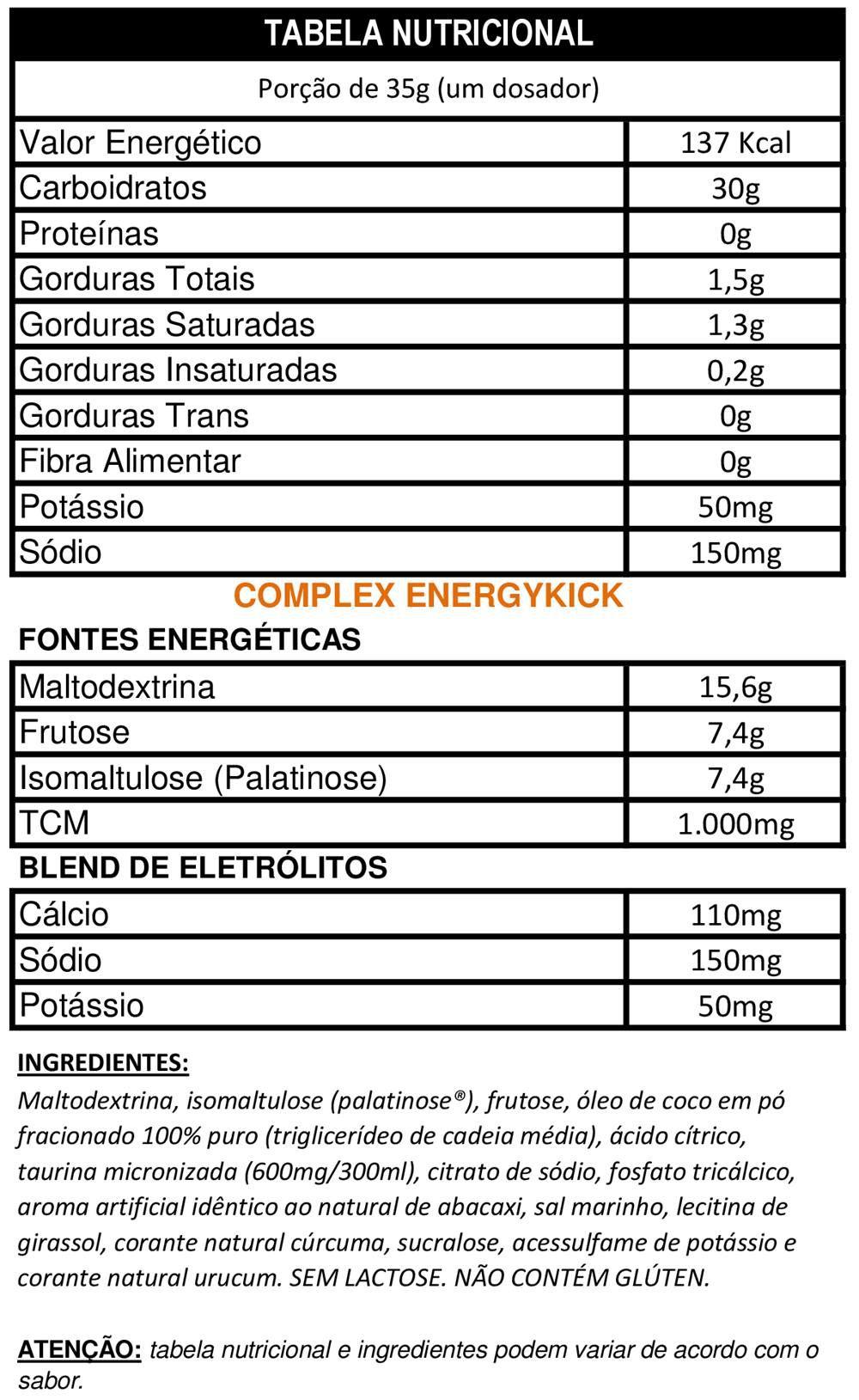 EnergyKick 1Kg - DUX Nutrition