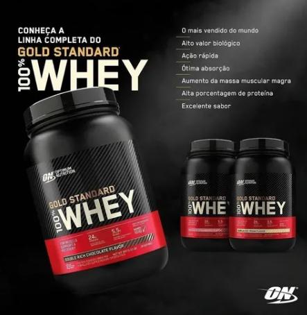 (Frete Grátis!) 2x 100% Whey Gold Standard 900g- Optimum Nutrition