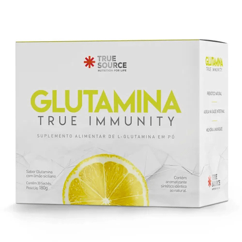 Glutamina de Limão True Immunity 30 Saches - True Source