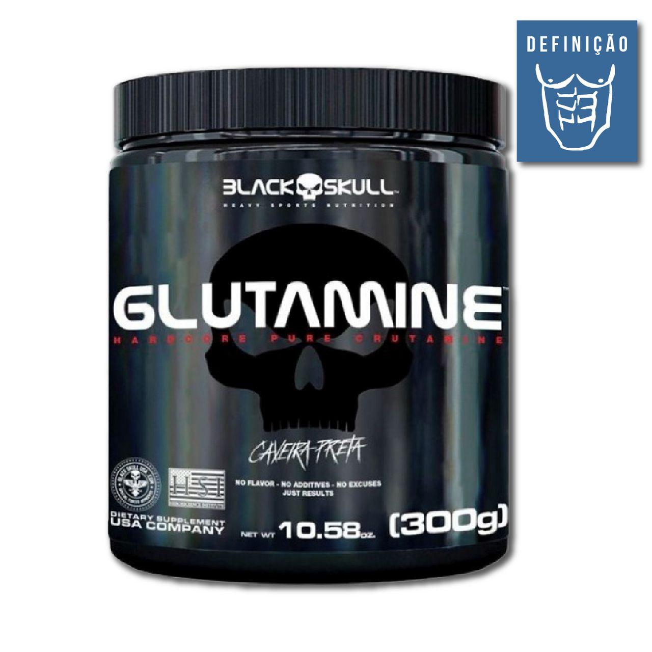 Glutamine 300g (Caveira Preta) - Black Skull