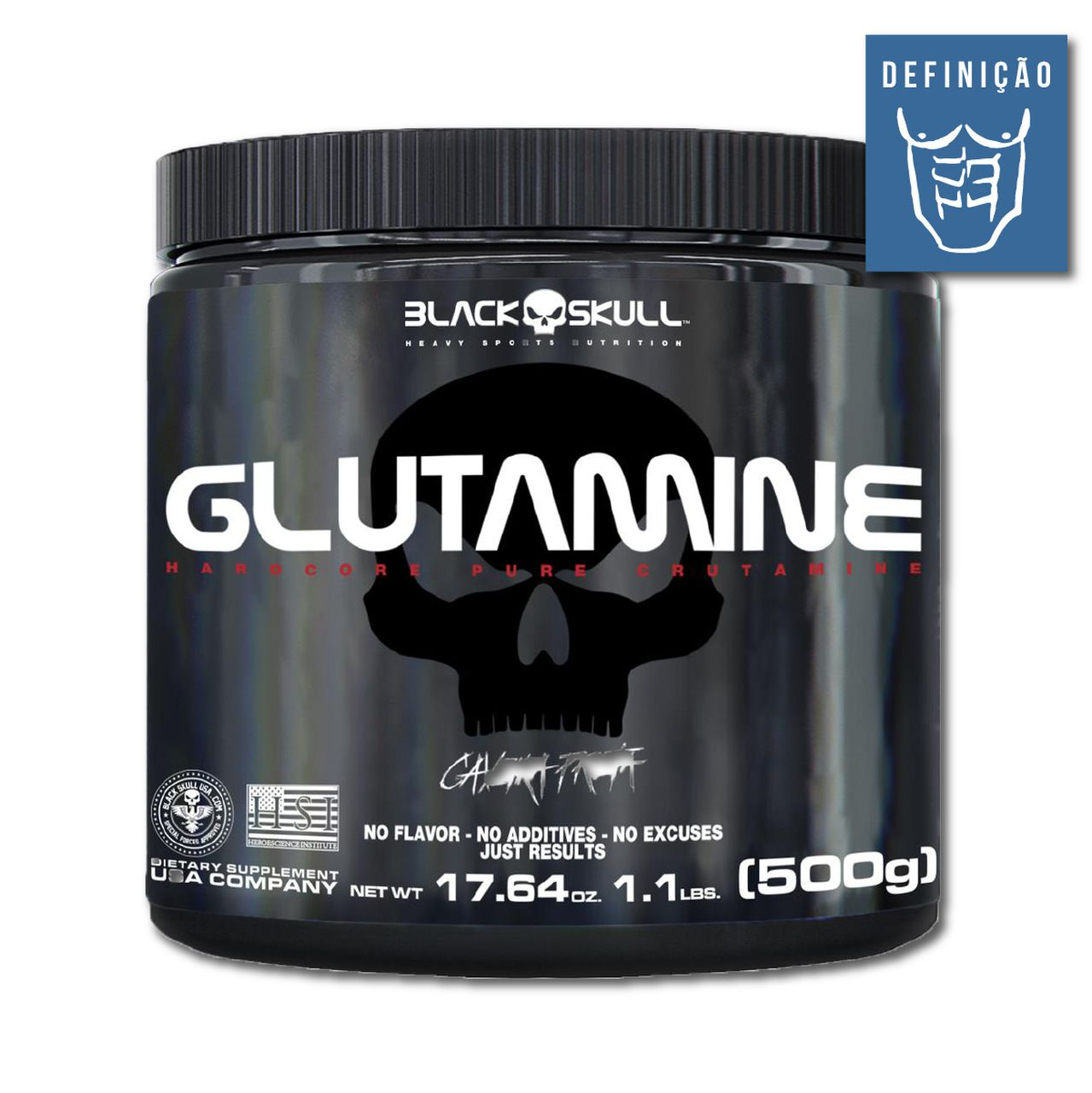 Glutamine 500g (Caveira Preta) – Black Skull