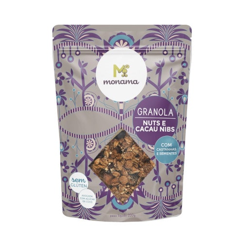 Granola Nuts e Nibs de Cacau 200g - Monama