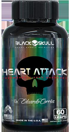 Heart Attack 60 Caps. - Black Skull
