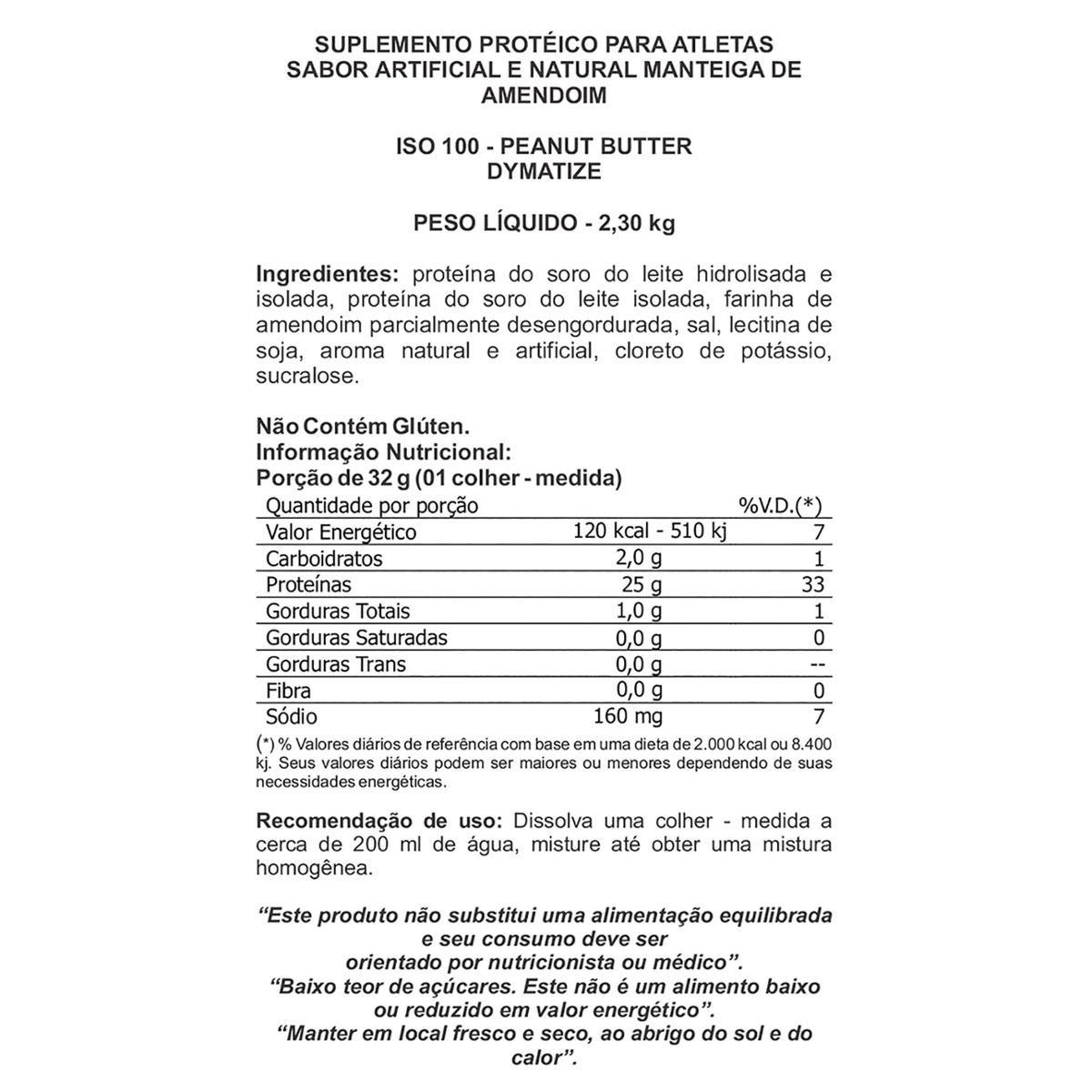 ISO 100 Hydrolyzed 5lbs (2,3Kg) - Dymatize  - BC Suplementos