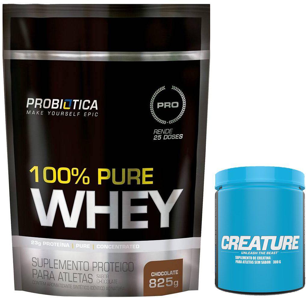 KIT: 100% Pure Whey 825g + Creature 300g