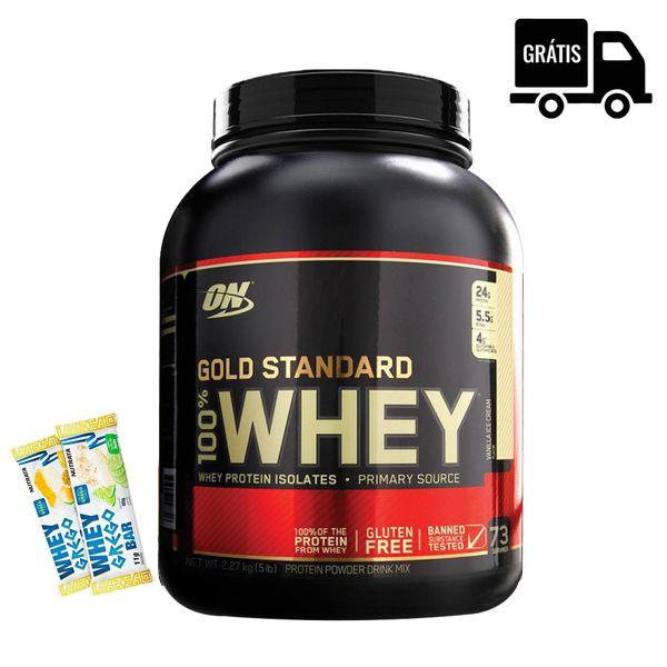 KIT: 100% Whey Gold 2,25Kg + Brindes